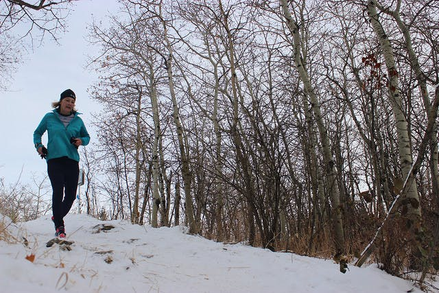 Trail running is a great way to get outdoors in colder months.