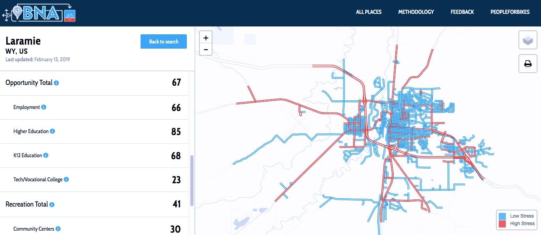 Laramie Bicycle Network Analysis