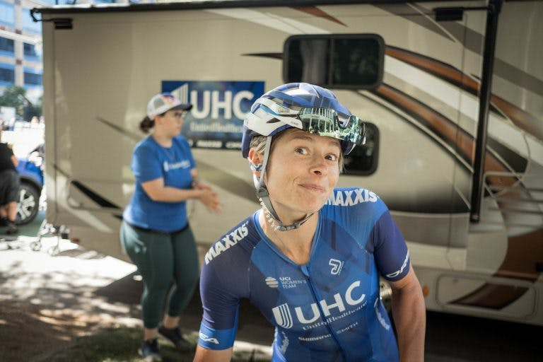 Professional rider Lauren Hall (Source: United Healthcare Pro Cycling/Jonathan Potter.)