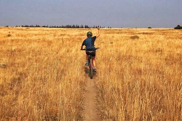 Biking on National Forest land in Montana (Image credit: Lander Karath)