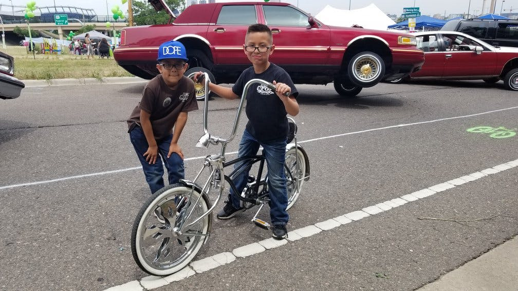 An event in the West Colfax neighborhood of Denver where local cruiser car culture merged with biking. (Photo courtesy of Denver Streets Partnership)