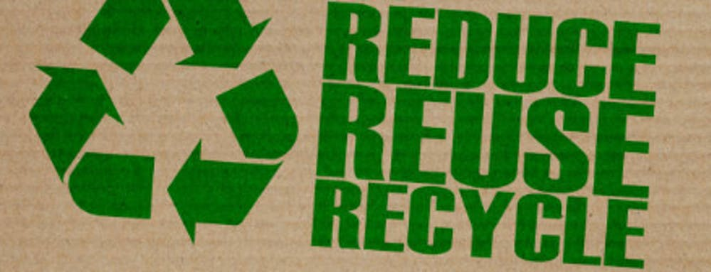 Reduce, reuse,recycle sign