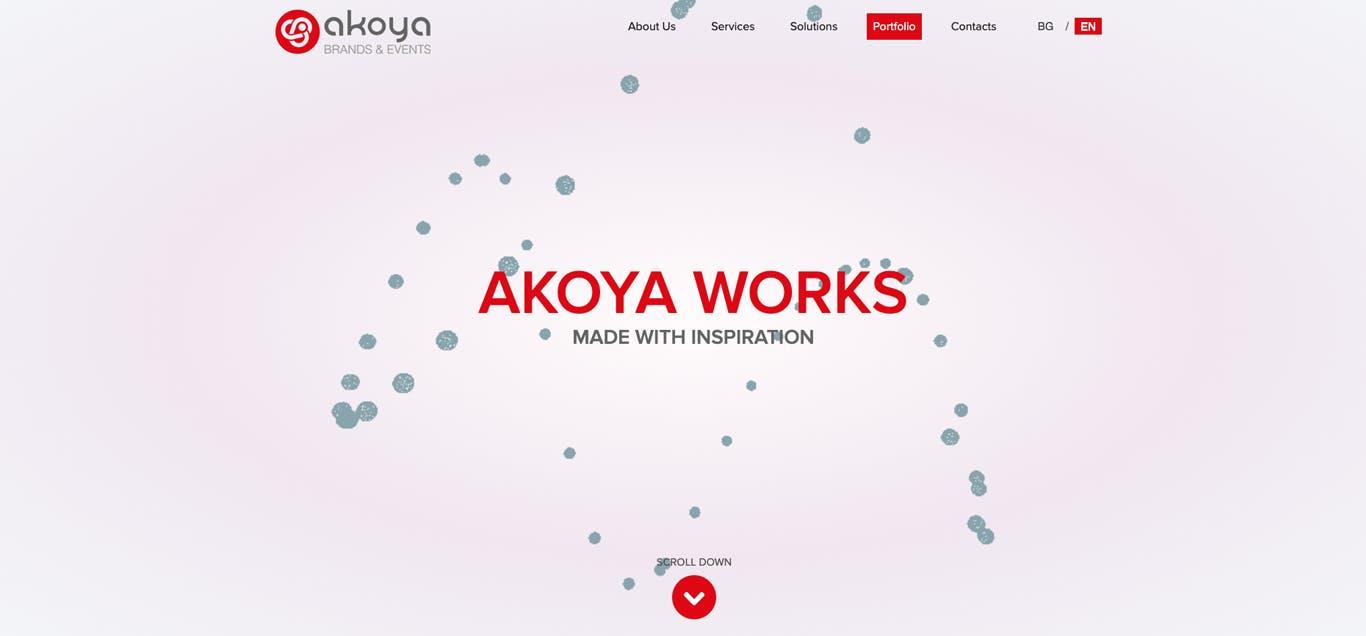 Akoya Website Homepage Render