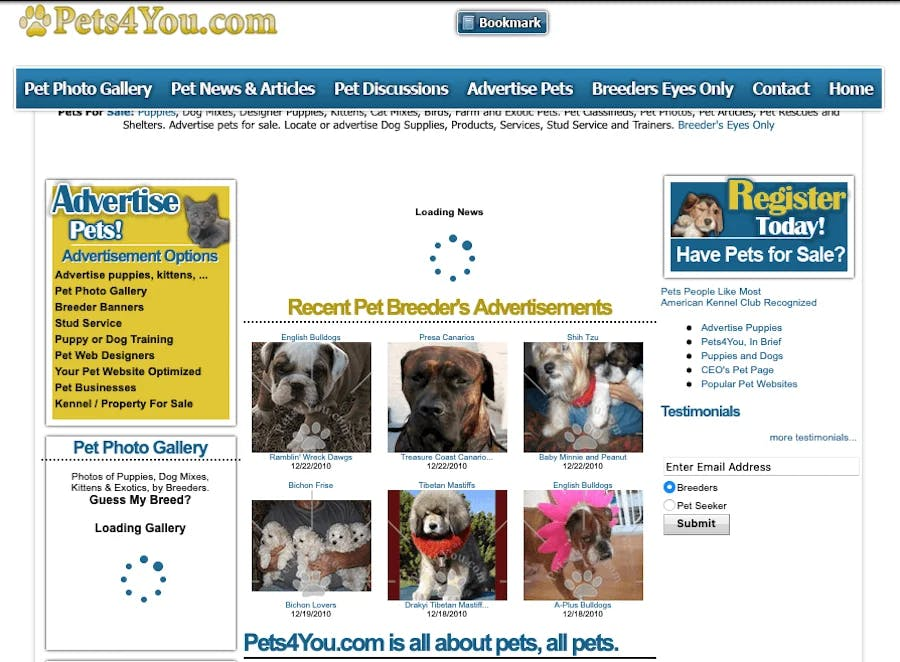 Pets4You.com in 2010
