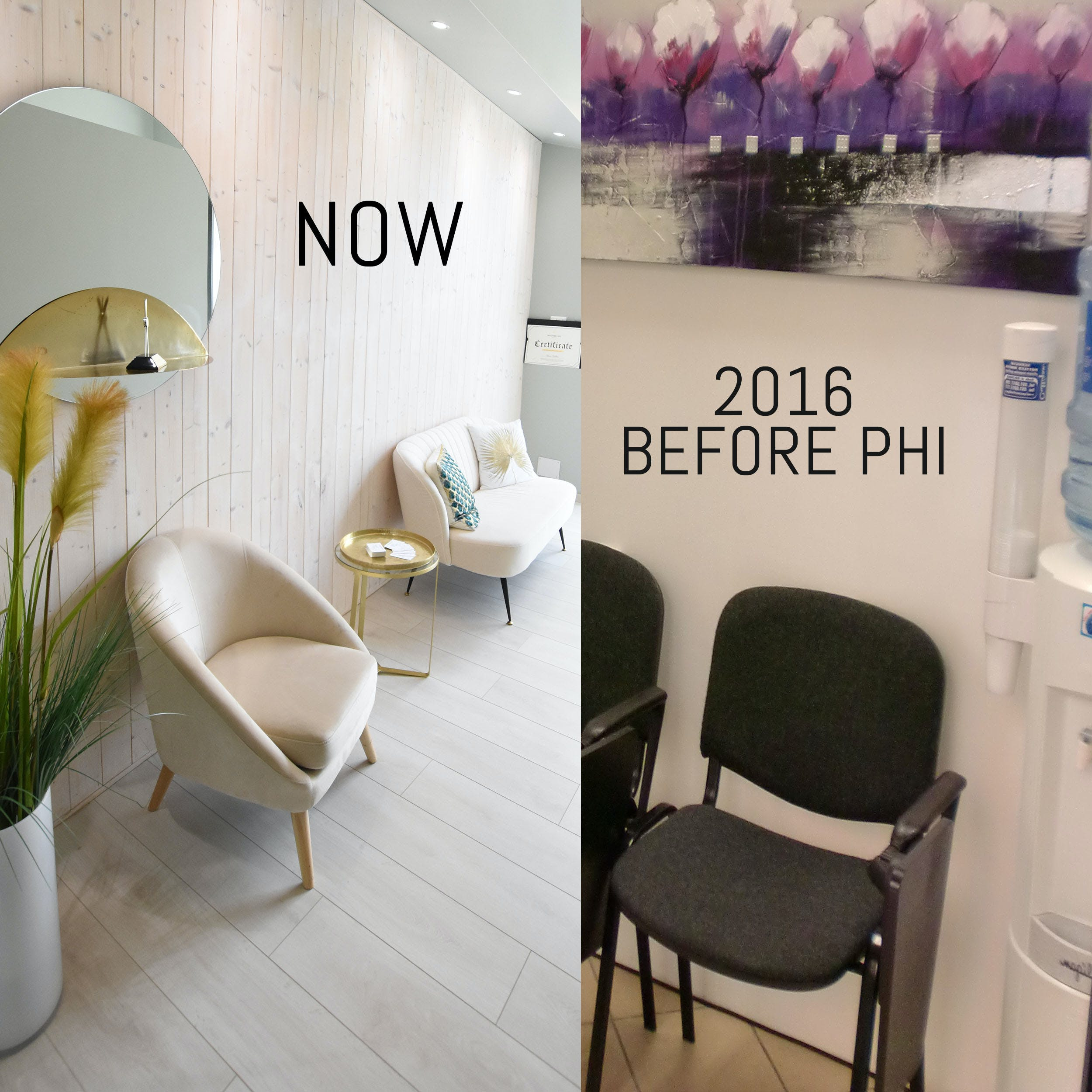 Chiara's salon today and before she became a part of Phi Academy