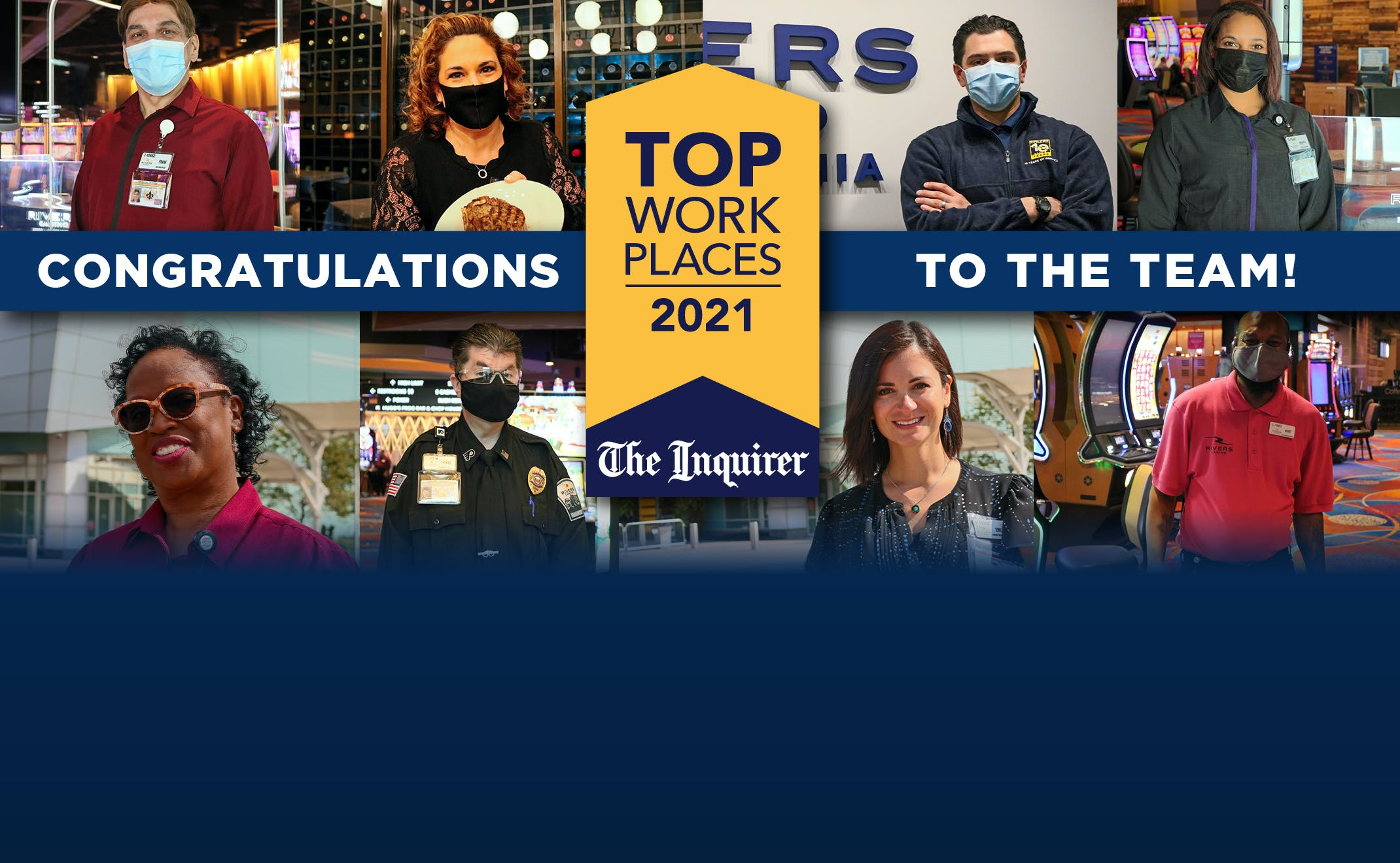Philly Jobs - Rivers Casino Philadelphia - Top Work Places 2021 Philly Inquirer Image