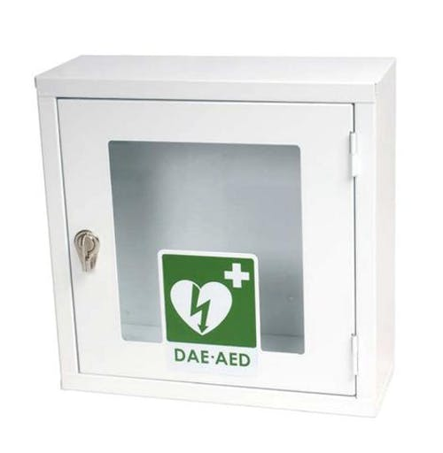 teca metallica per defibrillatore