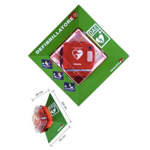 teca defibrillatore per esterno riscaldata