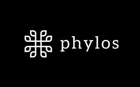 Phylos logo with black background