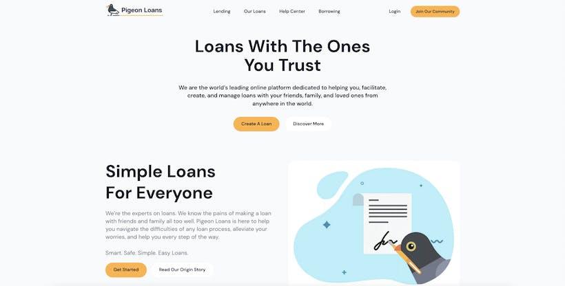 Pigeon Loans Homepage