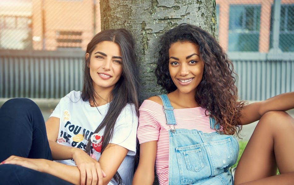 smiling young women