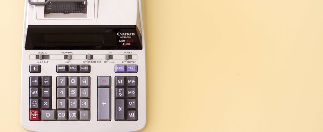 old fashioned accounting calculator