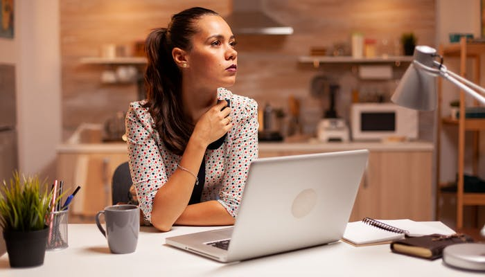 woman thinking about her career