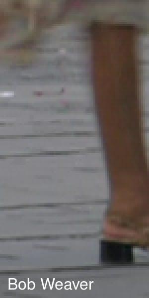 Closeup of woman's leg