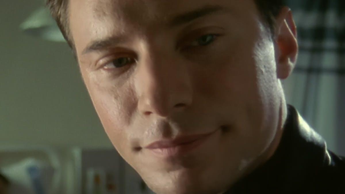Closeup of man's face