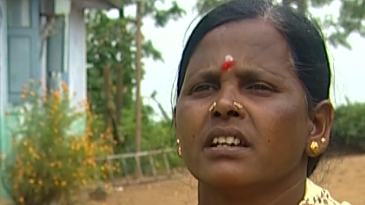 Closeup of woman's face