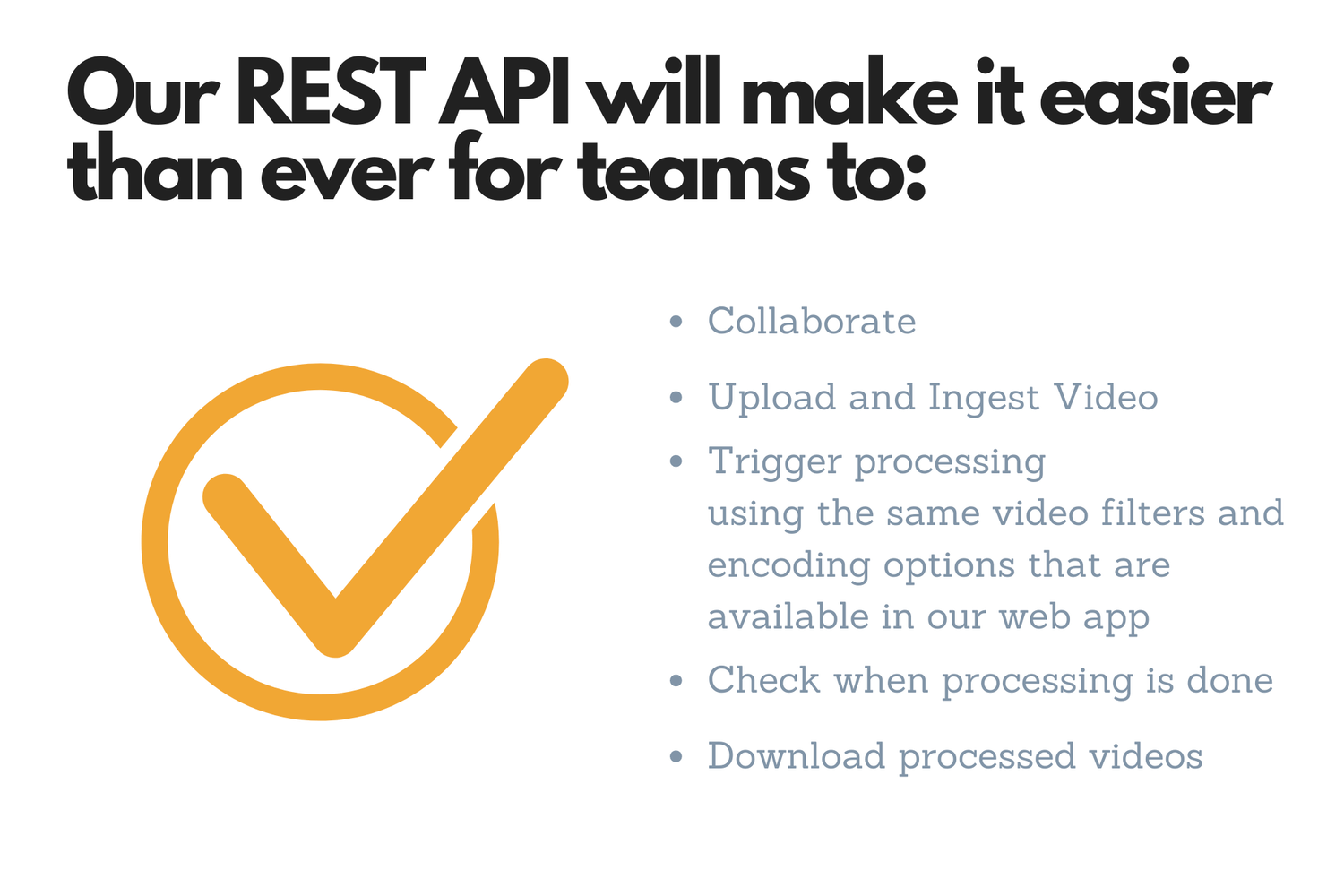 Graphic illustration of REST API features and benefits.