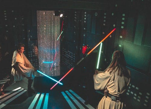 star wars, lightsaber, battle, duel
