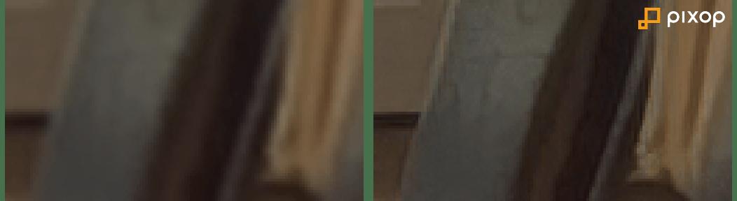 Before/after Pixop Deep Restoration (example 2)