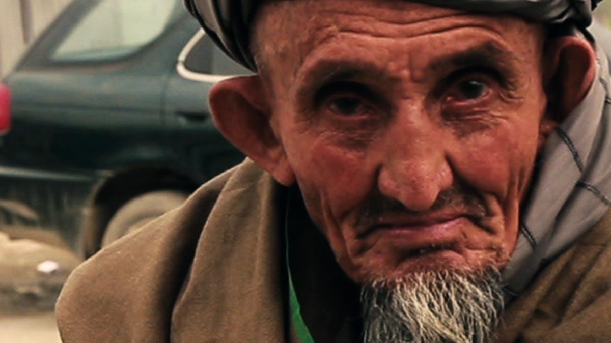 Closeup of old man's face