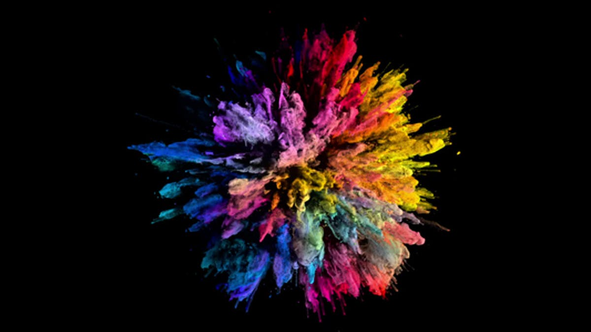 Image of color explosion