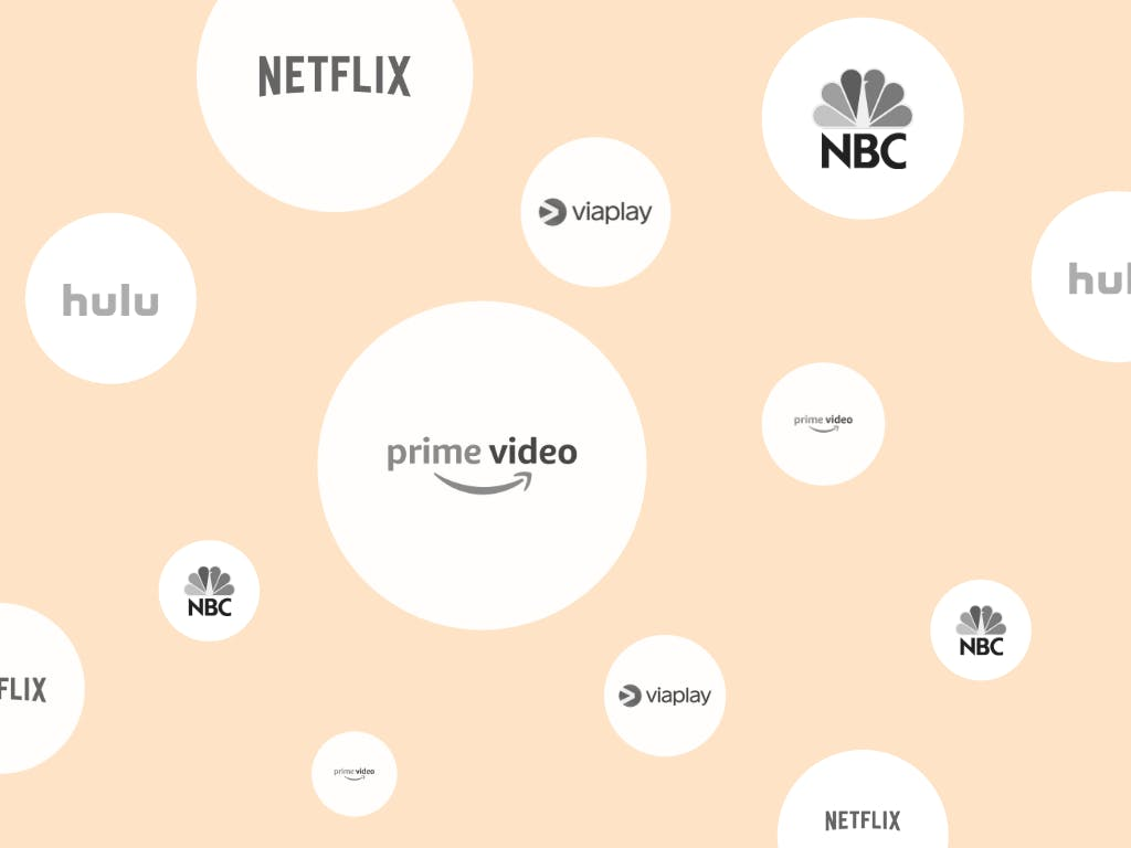 Logos of different streaming services