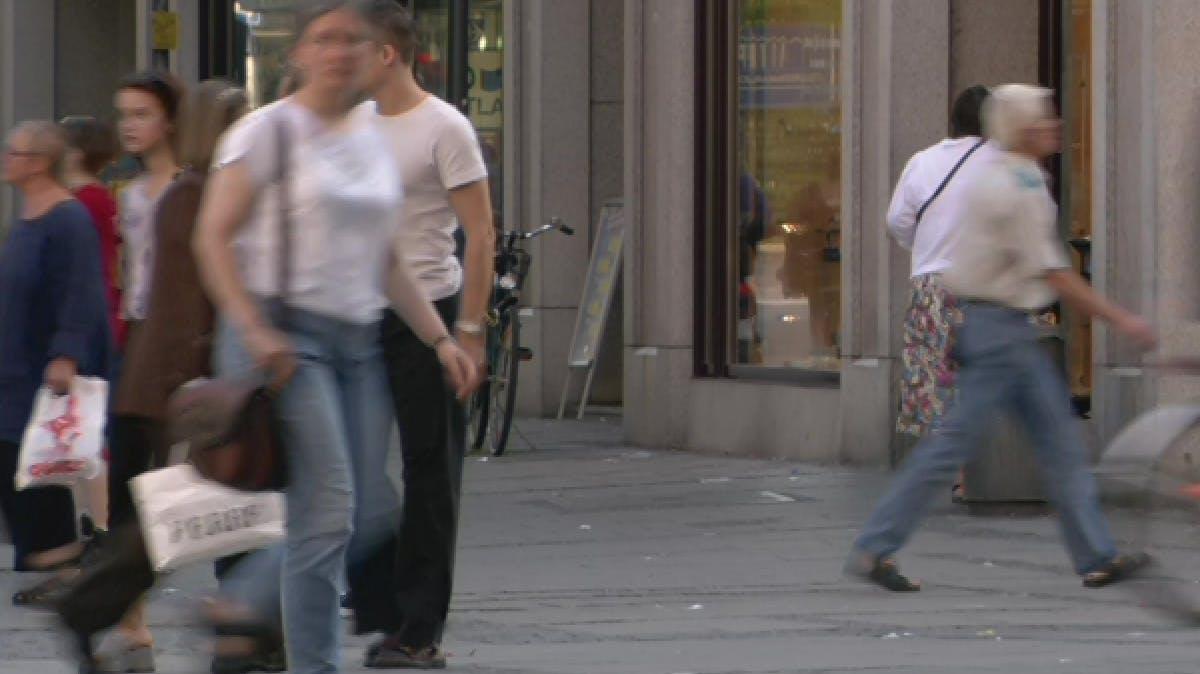 Pedestrians walking in the street