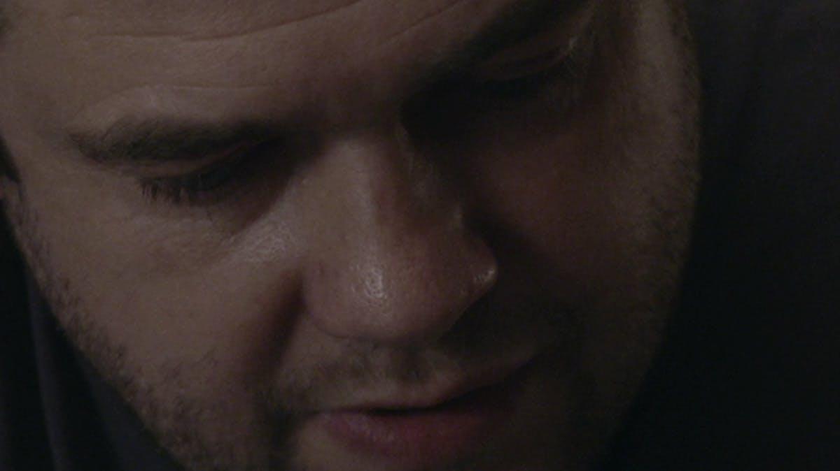Closeup of young man's face