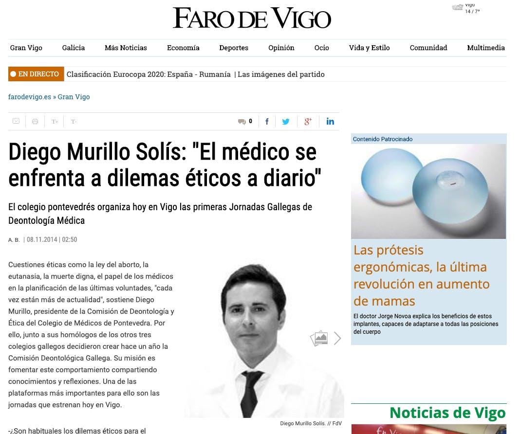 Diego Murillo Solís: ´El médico se enfrenta a dilemas éticos a diario´