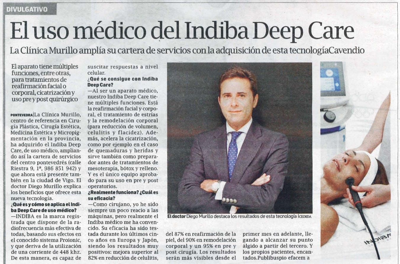 El uso médico del Indiba Deep Care