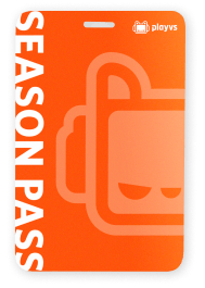 Season pass card with PlayVS logo