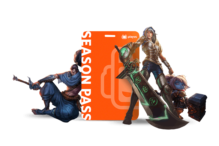 PlayVS Season Pass with League of Legends characters