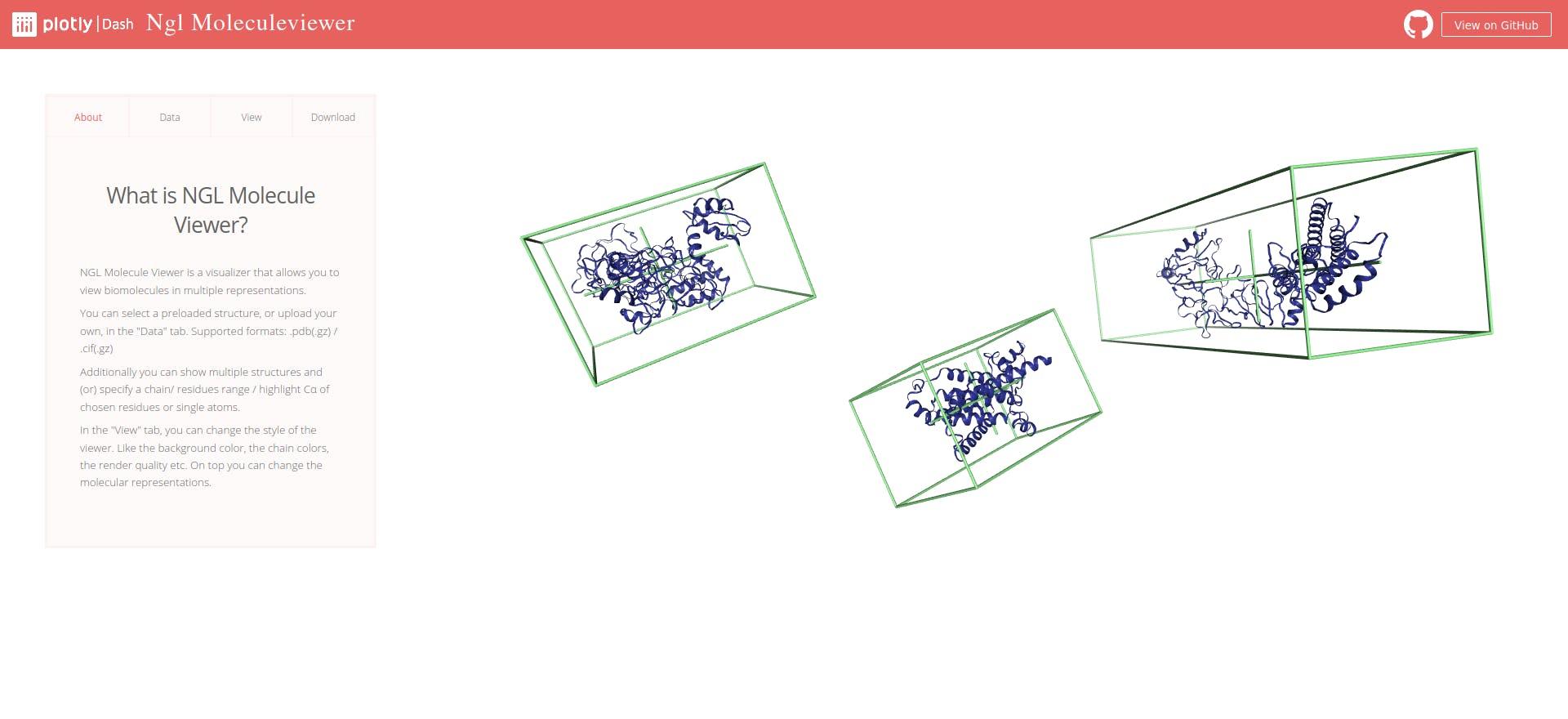 Dash NGL MoleculeViewer