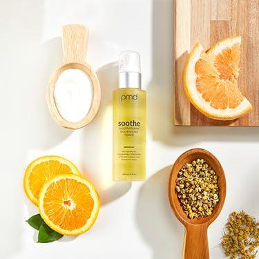 Toner with oranges, salt, and chamomile