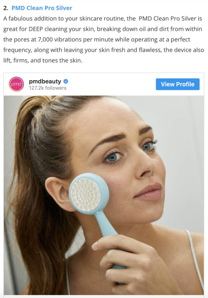 PMD Clean Pro Silver featured in The Daily Front Row