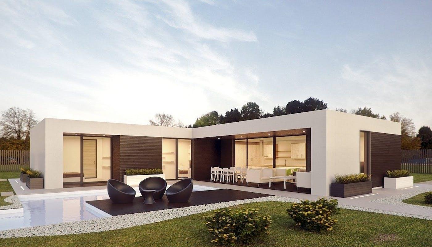piscine sur mesure d'une maison moderne