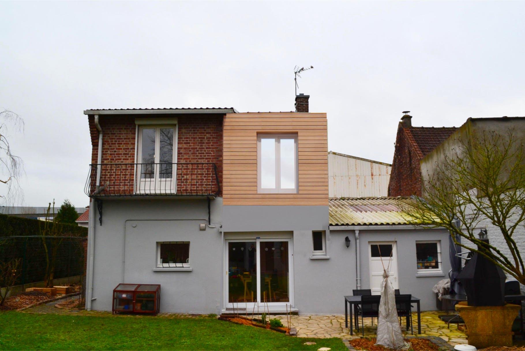 surélévation de maison modern