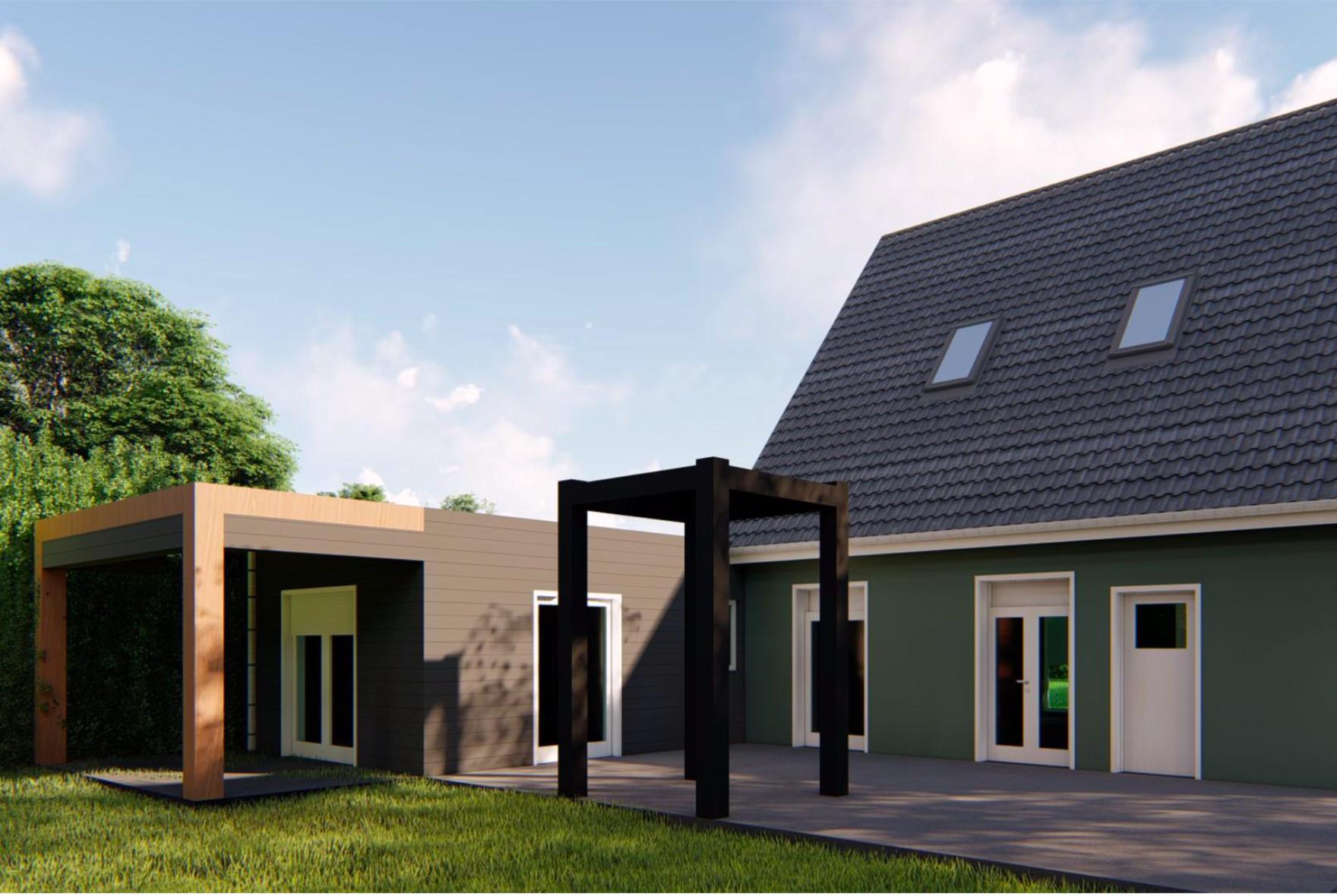 Devis Extension Maison à La Louvière → Agrandissement Bois, Acier, Parpaing