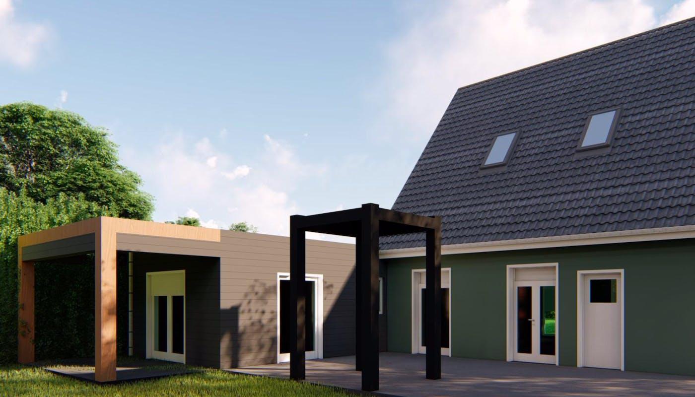 extension de maison avec terrasse