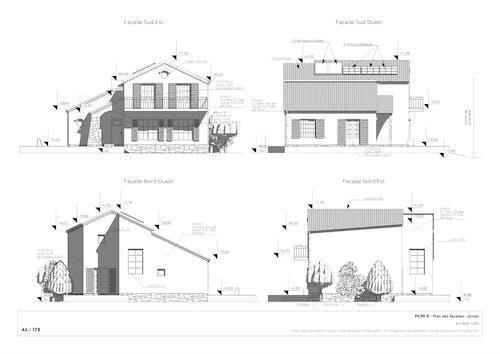 Plan de façade après-projet
