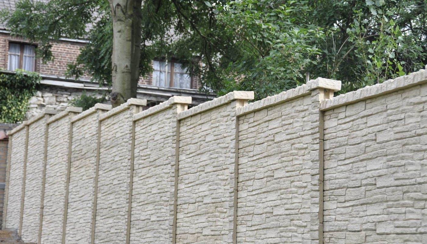 clôture en béton