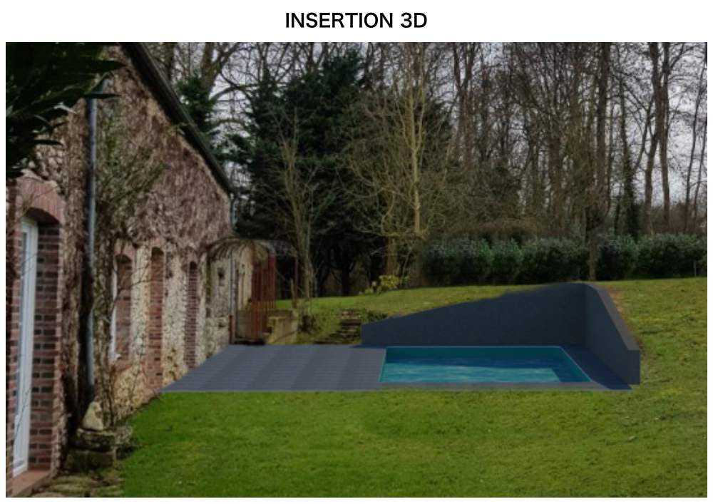 Insertion 3D - piscine