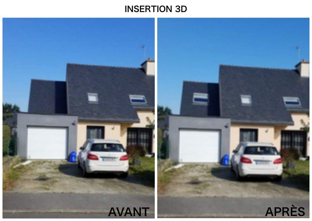 Insertion 3D - fenêtre de toit