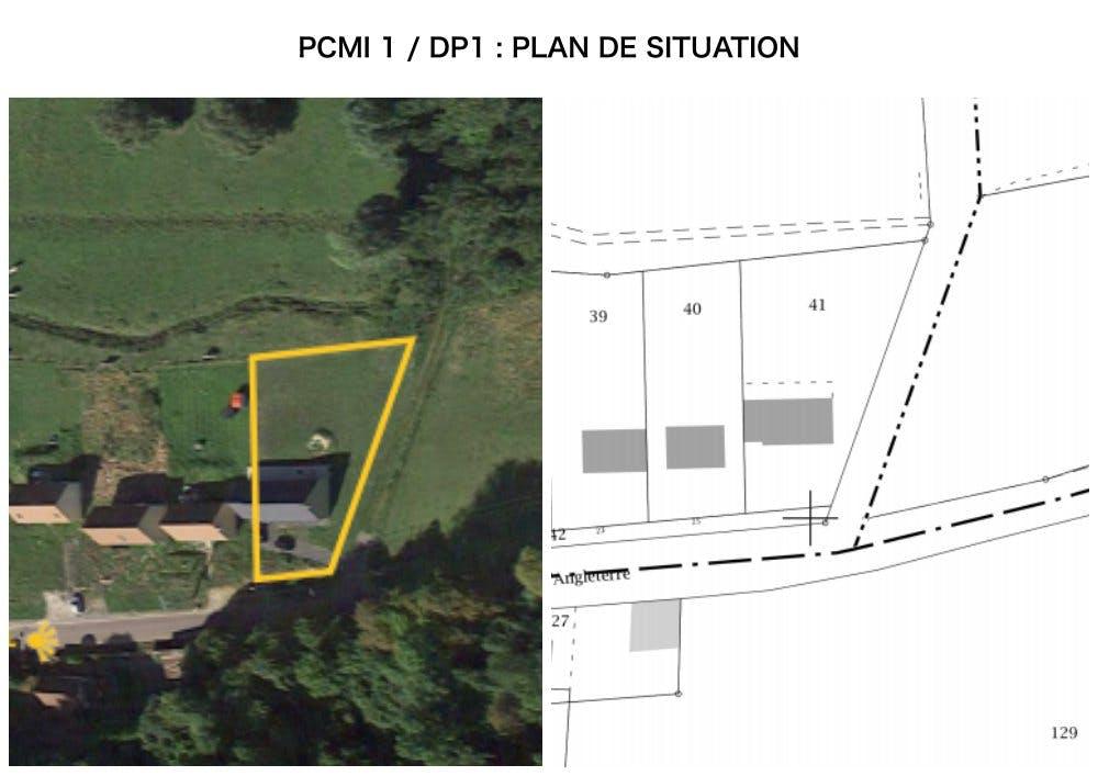 PCMI 1 / DP 1 - Pan de situation - clôture et portail