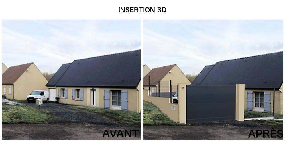 INSERTION 3D - CLÔTURE ET PORTAIL