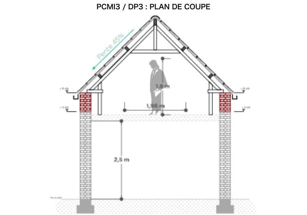 PCMI3 / DP3 : plan de coupe - combles