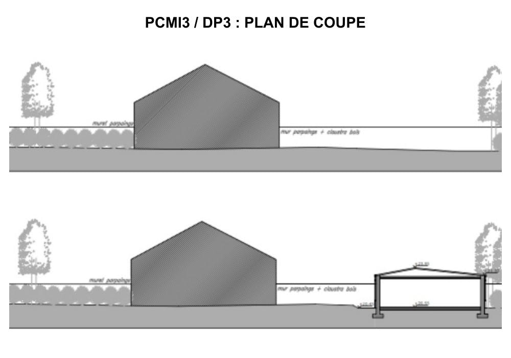 PCMI3 / DP3 : plan de coupe - maison