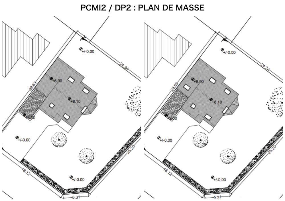 PCMI2 / DP2 - PLAN DE MASSE - FENETRE DE TOIT