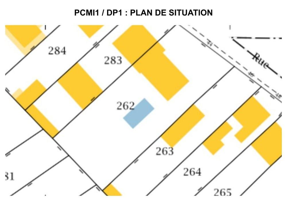 PCMI1 / DP1 : plan de situation - maison