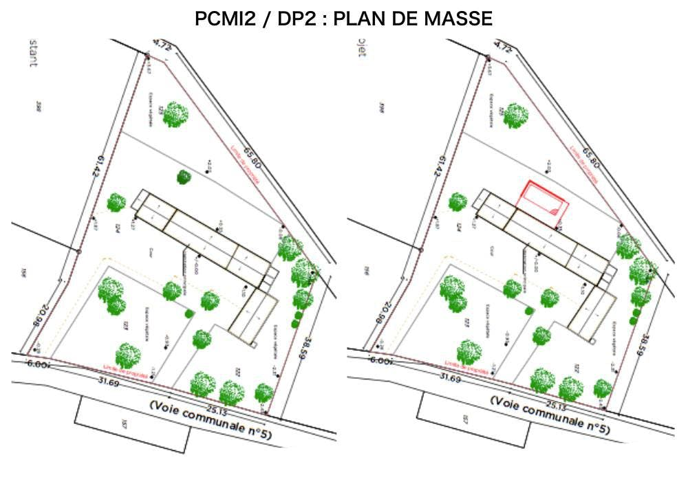 PCMI2 / DP2 - PLAN DE MASSE -PISCINE